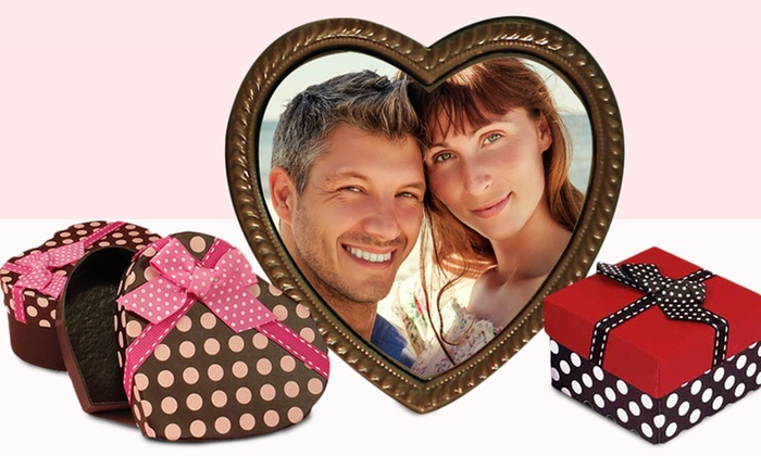 Chocolate Says It All: $14.99 for a Heart Portrait Custom Photo Printed on Chocolate from Chocolate Says It All ($29.99 Value)