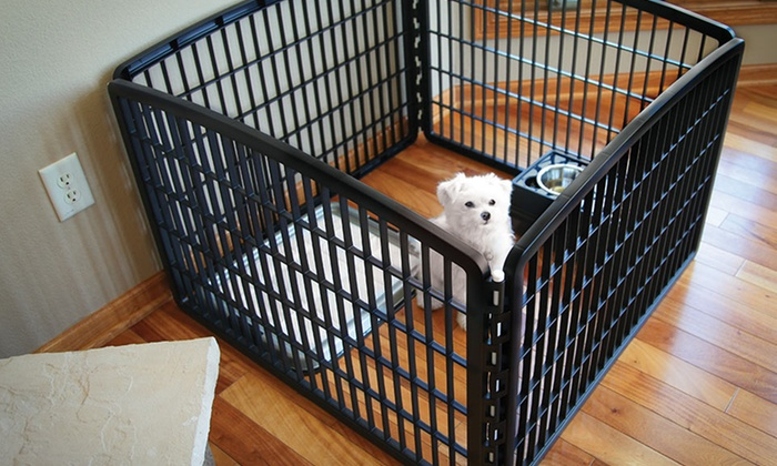 ... Indoor/Outdoor 4  Or 8 Panel Pet Playpen: Indoor/Outdoor 4