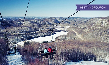 All-Day Skiing or Snowboarding with Optional Gear Rental at Mont Ste Marie
