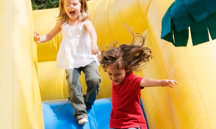 Puzzle's Fun Dome - East Louisville: $25 for a Family Fun Package for Two Kids and Two Adults with Zip-Lining at Puzzle's Fun Dome ($51.98 Value)