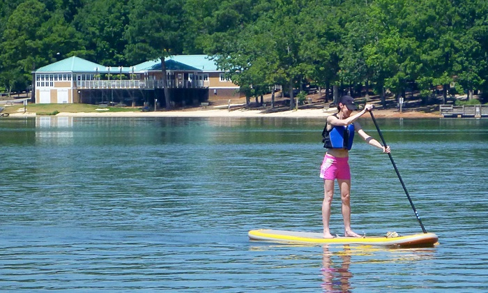 Triangle Glides - Southwest Raleigh: $36 for One 90-Minute Standup Paddleboarding Lesson from Triangle Glides ($65 Value)