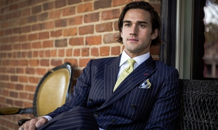 One Custom Suit with One or Three Shirts, or Two Custom Suits with Three Shirts from House of Bespoke (Up to 61% Off)