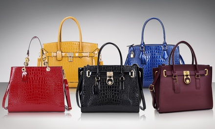 Dasein Handbag Mck Hamilton Faux-Leather Satchel with Lock