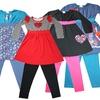 Nohi Kids Girls' Long-Sleeve Dress and Leggings Set