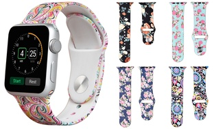 Printed Silicone Sport Band for Apple Watch Series