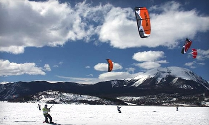Colorado Kite Force - Dillon: Snowkiting Lesson for One or Two or Full-Day Snowkite Rental at Colorado Kite Force (Up to 51% Off)
