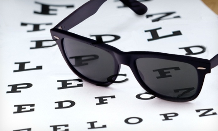Image Optometry - Multiple Locations: Eye Exam with $200 Worth of Glasses and Contact Lenses or Set of Ray Ban Eyeglasses or Sunglasses at Image Optometry (Up to 83% Off)