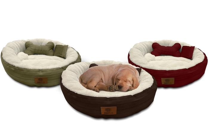 American Kennel Club Round 28 Quot Pet Bed Set 3 Piece Groupon