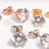 $9 for Three Pairs of Simulated-Diamond Studs