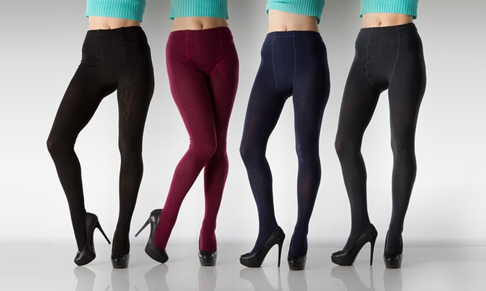 6-Pack of Sweater Tights: 6-Pack of Sweater Tights. Multiple Color Combinations Available.