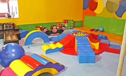 Open Play for Two or Four or 10-Kid, 10-Adult Party Package at Ball Factory Play & Cafe (Up to 50% Off)