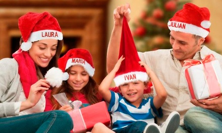 1, 2 ou 3 gorros de Natal personalizados desde 9,90€