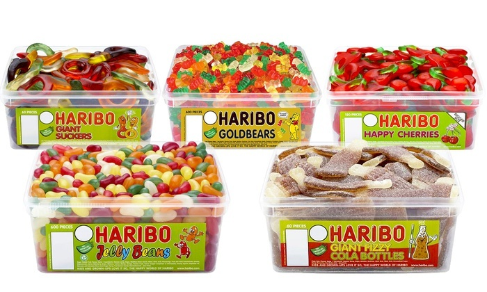 Groupon Goods Global GmbH: Classic Haribo Party Tub Sweets in Choice of Flavour from €9.99 (50% Off)