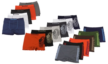6-Pack of Men's Seamless Boxer Briefs