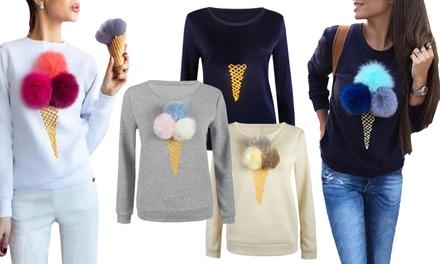 1x oder 2x Pullover mit abnehmbaren Accessories in der Farbe nach Wahl (bis zu 65% sparen*)