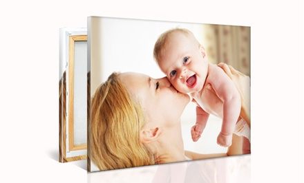 groupon daily deal - Custom Photo Canvas from PrinterPix. Multiple Sizes from $25.99–$69.99.
