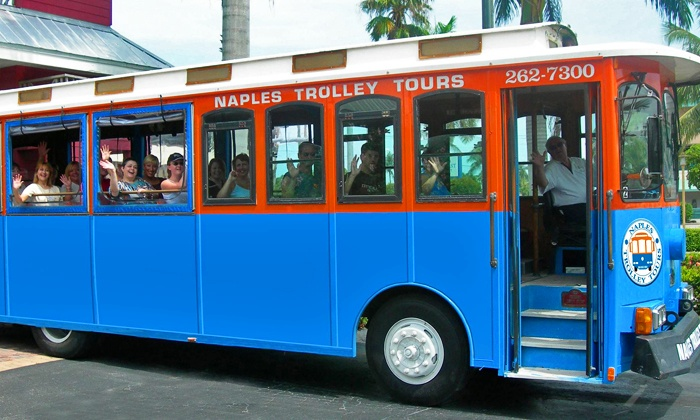 Naples Trolley Tours - Naples Trolley Tours: Trolley Tour for One, Two, or Four from Naples Trolley Tours (Up to 41% Off)