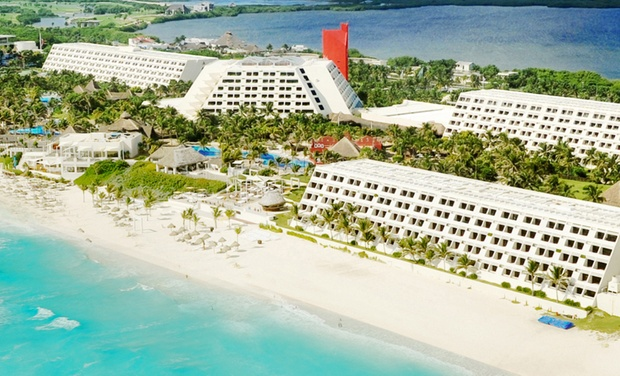 TripAlertz wants you to check out ✈ 4, 6, or 7 Night All-Inclusive The Pyramid at Grand Oasis Stay w/ Nonstop Air. Price/Person Based on Double Occupancy. ✈ All-Inclusive The Pyramid at Grand Oasis w/Air from Vacation Express - All-Inclusive Cancún Vacation