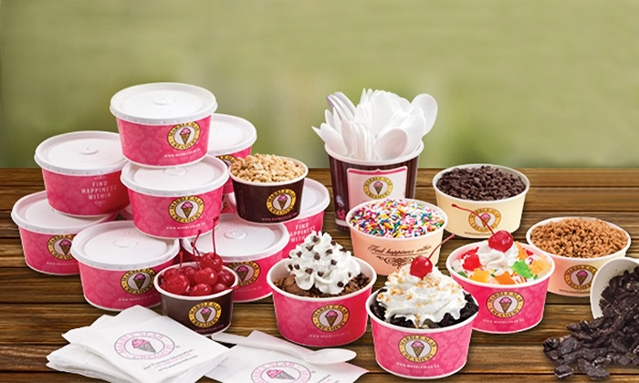 Marble Slab Creamery - Multiple Locations: 5, 10, or 15 To-Go Sundaes or Birthday-Party Package for Up to 10 from Marble Slab Creamery (Up to 60% Off)