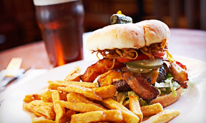B-52 Burgers and Brew - Inver Grove Heights: $15 for Two Burgers and Beers at B-52 Burgers and Brew ($30.98 Value)