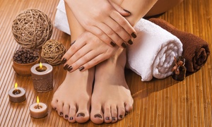 Noritha Hair and Beauty: Manicure or Pedicure from R69 with Optional Hand or Foot Massage at Noritha Hair and Beauty (Up to 72% Off)