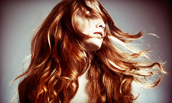 Mazzy - San Mateo: One or Two Haircuts with Partial Highlights or Three Washes with Styling at Mazzy (Up to 63% Off)
