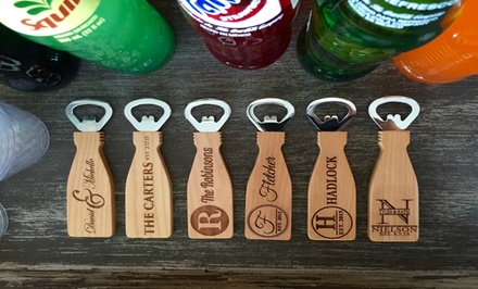 One or Two Personalized Magnetic Bottle Openers