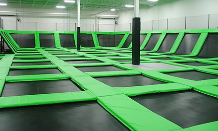 One-Hour Trampoline Session, Laser Tag, and Arcade Games for Two at Zero Gravity Trampoline Park (Up to 42% Off)