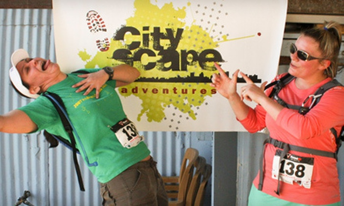 CityScape Adventures - Aussie's Bar & Grill: $45 for CityScape Adventures Race for Two on Saturday, October 20 (Up to $150 Value)