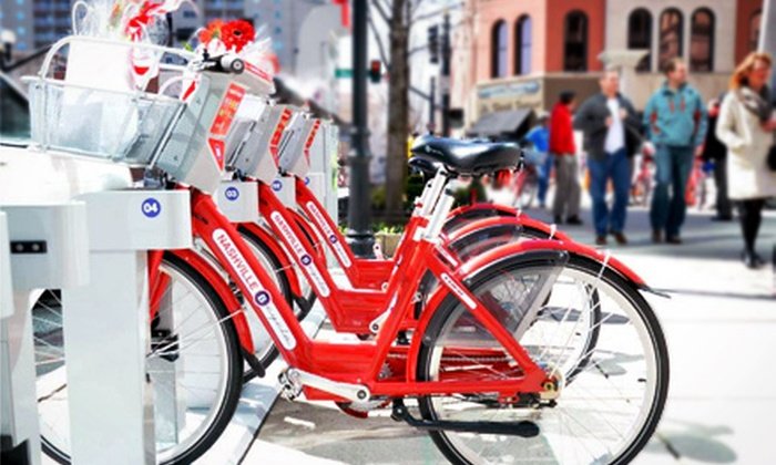 Nashville B-cycle - Downtown Nashville: One-Year Bike-Share Membership for One or Two to Nashville B-cycle (Up to 51% Off)