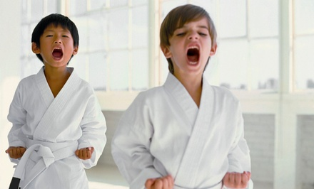 10- or 20-Class Pass with 1 or 2 Private Lessons and Uniform at Kids Love Martial Arts (Up to 91% Off)