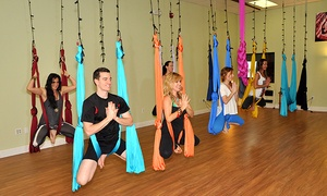 CircuSoul Yoga: Three One-Hour Aerial Yoga at CircuSoul Yoga (56% Off)