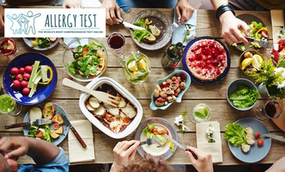 Food and Nutrition Allergy Tests from Allergy Test (Up to 64% Off). Three Options. All Fees Charged in USD.
