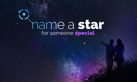 Personalised Name a Star Gift Sets, Including PDF Version with Text Message from Star Listings UK (Up to 52% Off)