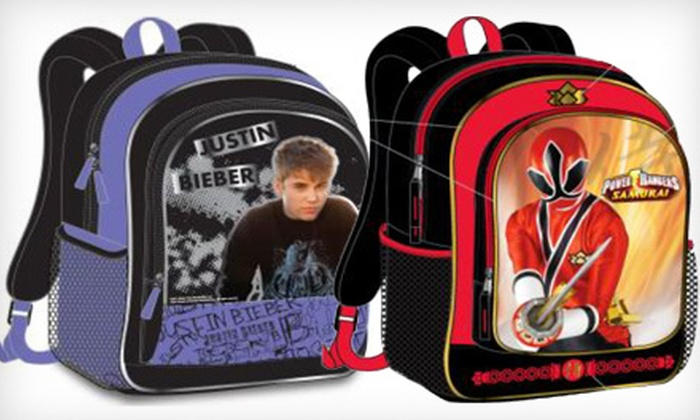 Accessory Innovations Kids' Backpack: $12 for an Accessory Innovations Justin Bieber, Lego Star Wars Galaxy, Power Rangers, or Star Wars Clone Wars Backpack ($29.99 List Price)