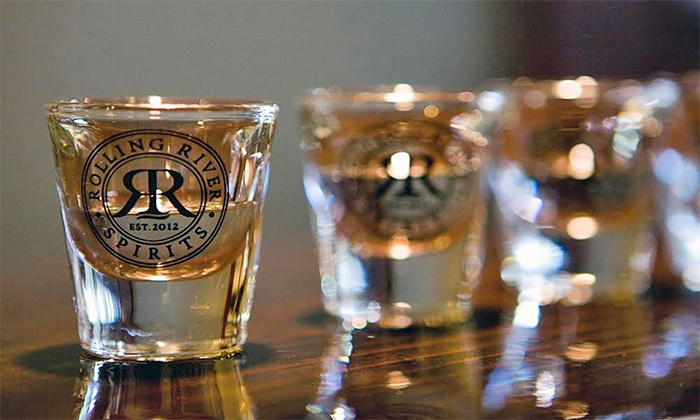 Rolling River Spirits - Buckman: Tasting and Take-Home Shot Glasses for Two or Four at Rolling River Spirits (Up to 57% Off)