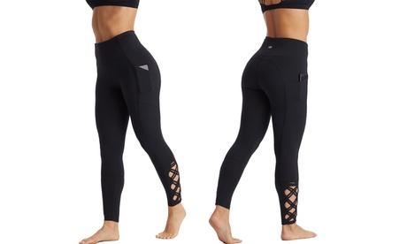 "Marika Women's High Rise Tummy Control Leggings with Pocket 25"" 70f410e8-784f-4679-b3ef-4f5d363891c7"