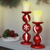 Holiday-Themed Candle Holders with Flameless Candles