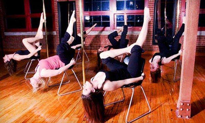 Brass Belles - Downtown Brampton: Pole Dancing Classes with 5 or 10 Drop-In Classes or Private Party for 12 at Brass Belles in Brampton (Up to 61% Off)