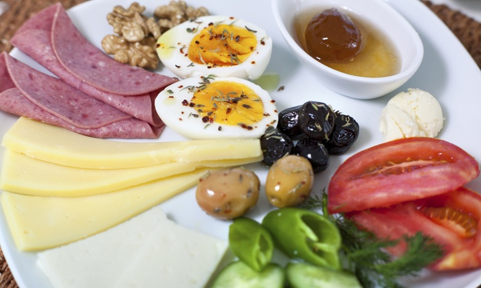 River's Edge Bistro - Unionville: Mediterranean Sunday-Brunch Buffet for Two or Four at River's Edge Bistro (40% Off)