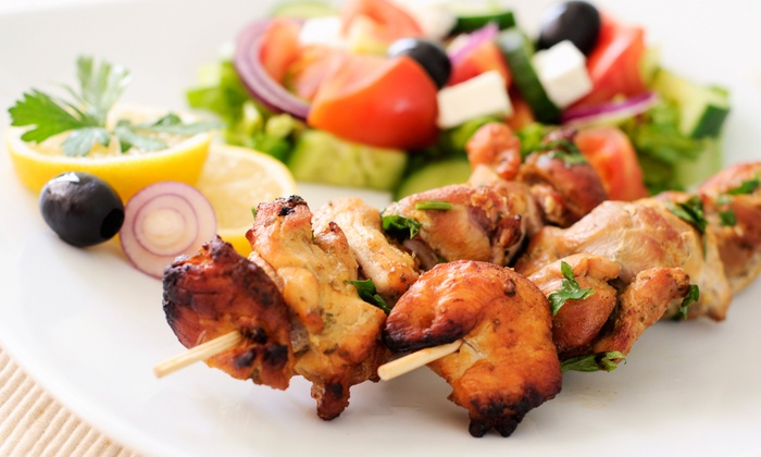 Sizzl'n Kabobs - West Omaha: $12 for Three Groupons, Each Good for $8 Worth of Mediterranean Food at Sizzl'n Kabobs ($24 Total Value)
