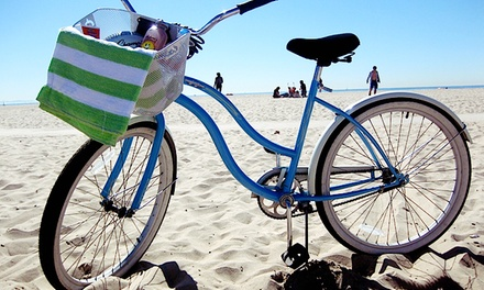 Full-Day Beach-Cruiser Rental for One, Two, or Four at Bike Curious Rentals (Up to 51% Off)