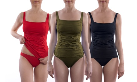 Maillot de bain tankini gainant Thetys culotte et débardeur, coloris et tailles au choix