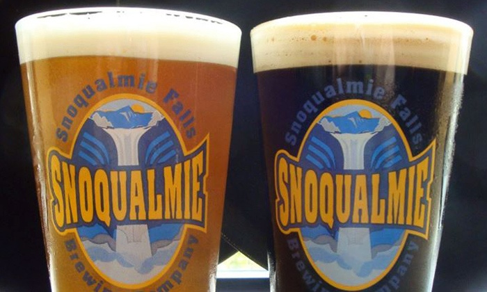 Snoqualmie Brewery & Taproom - Snoqualmie: Pints and Refillable Growlers for Two or Four at Snoqualmie Brewery & Taproom (48% Off)