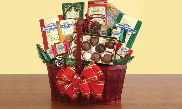 Product Details & Classic Ghirardelli Gift Basket | Groupon