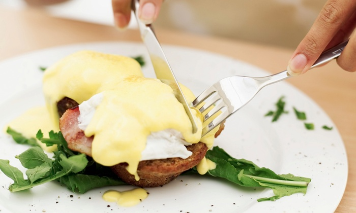 Bistro 7 - Georgetown: Sunday Pajama Brunch with Entrees, Coffee, Drinks, and Optional Bottomless Mimosas at Bistro 7 (Up to 43% Off)