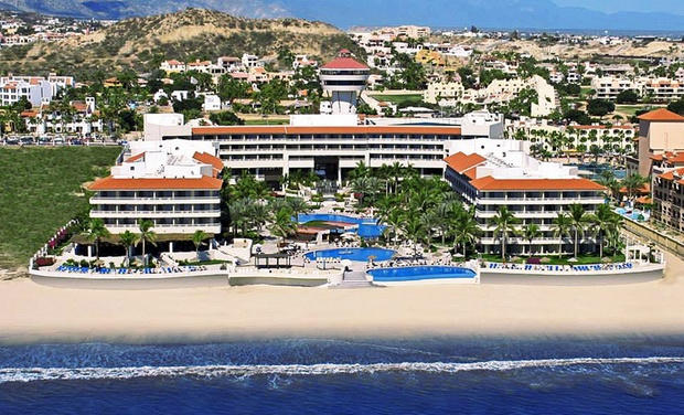 TripAlertz wants you to check out ✈ 4-Night All-Inclusive Barceló Grand Faro Los Cabos Stay with Airfare. Price per Person Based on Double Occupancy.  ✈ 4-Night All-Inclusive Mexico Vacation w/ Airfare from Travel by Jen  - All-Inclusive Mexico Vacation