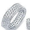 3 Row Cubic Zirconia Inside Out Eternity Band