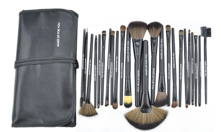 Professional 24-Piece Cosmetics Make-up Brush Set for AED 79 (84% Off)