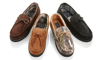 Oak and Rush Mens Slipper Moccasins